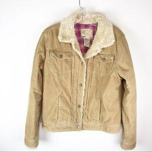 Roxy Tan Corduroy Jacket